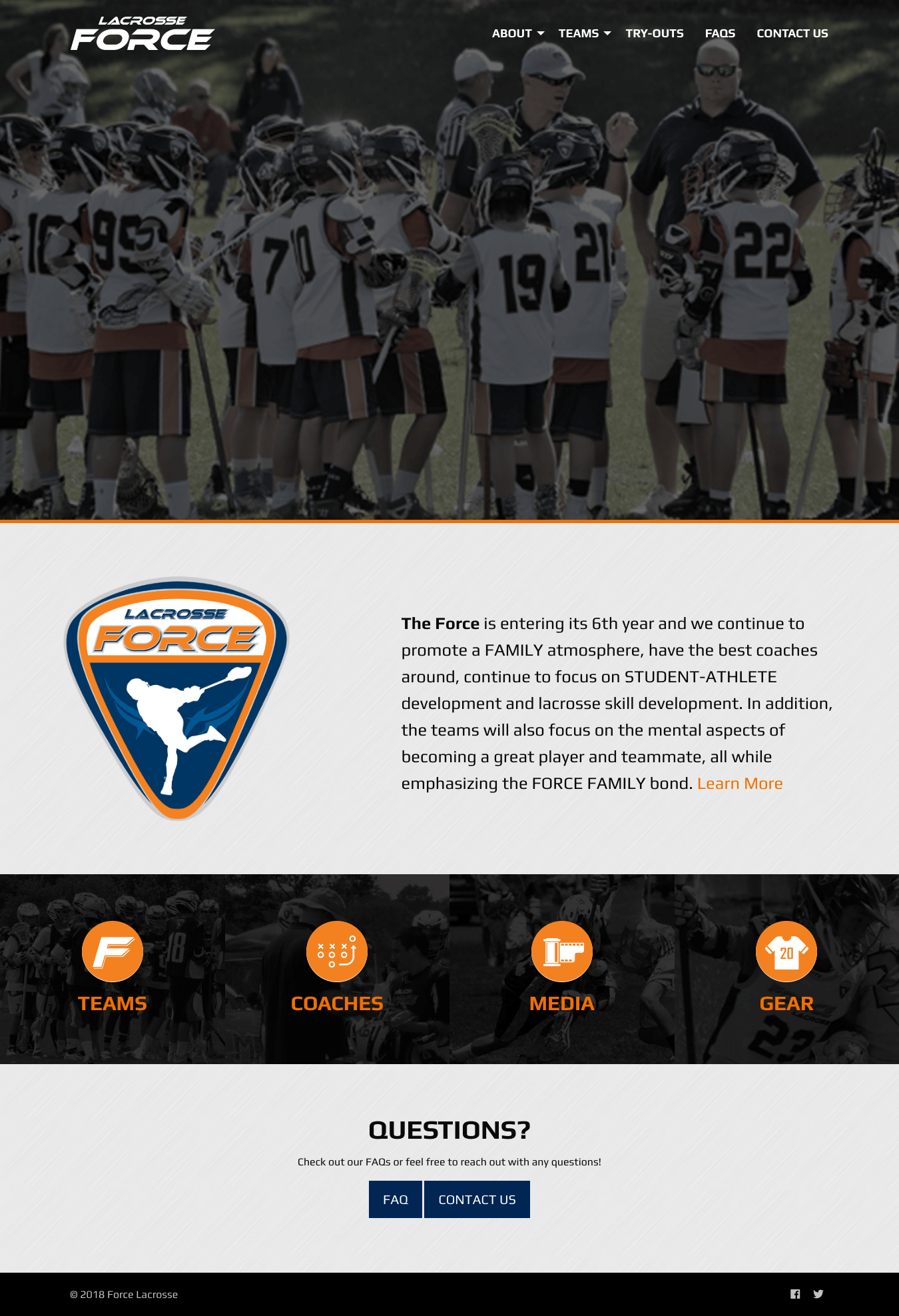 Force Lacrosse Homepage