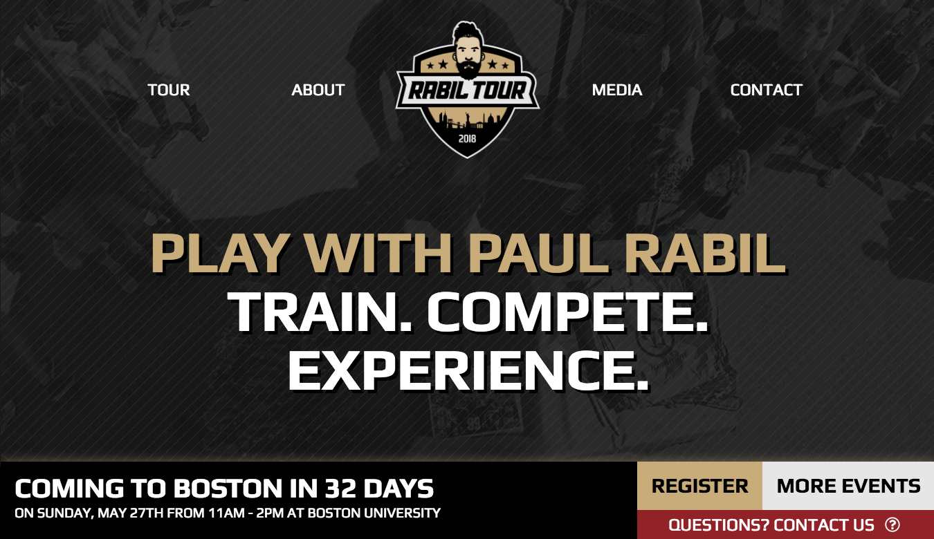 Rabil Tour Homepage with Countdown