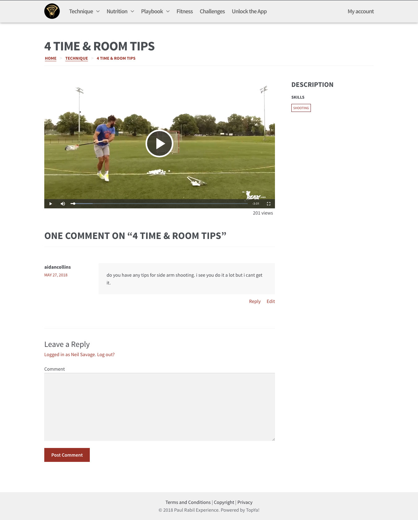 Paul Rabil Experience Shooting Video