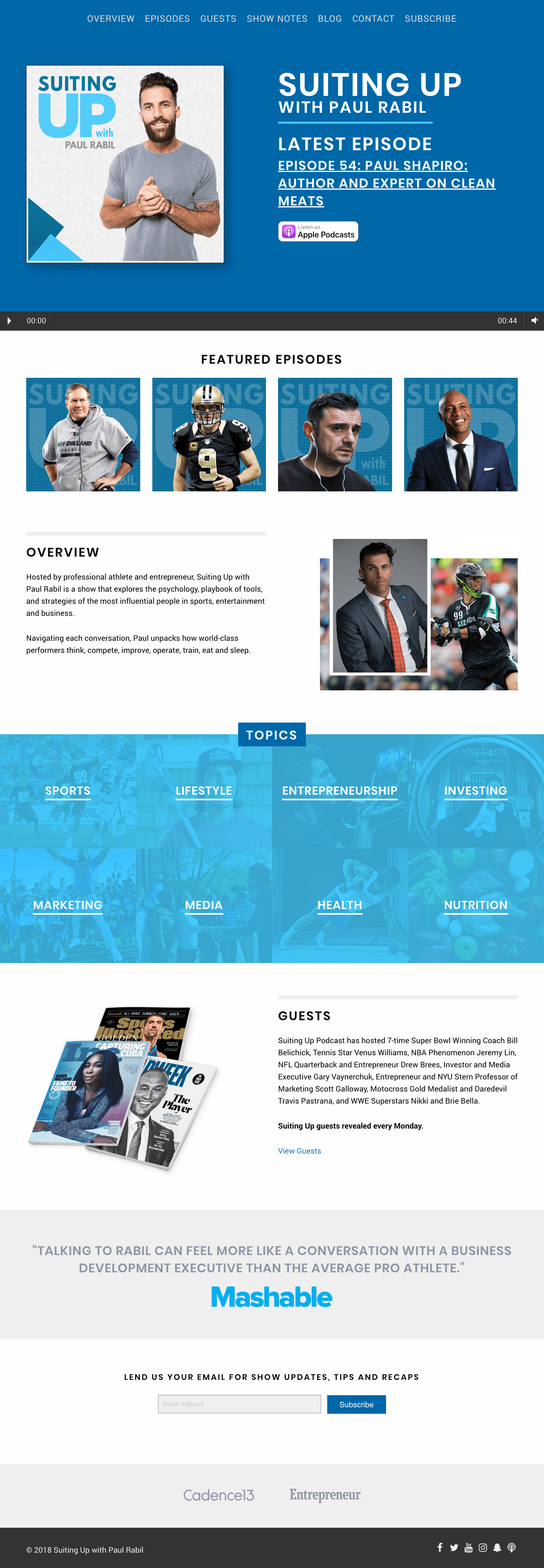 Suiting Up Podcast Homepage